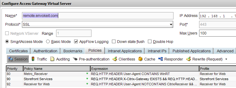 How to check which #NetScaler policy that your #Citrix #Receiver or