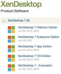 XenDesktop 7 Editions
