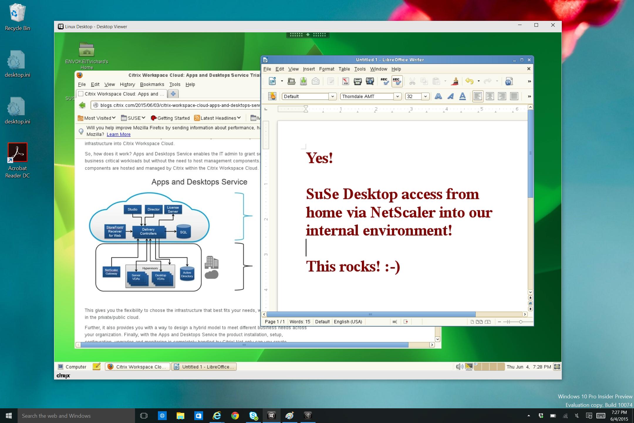 See how Citrix XenDesktop for Linux looks – #Citrix, #XenDesktop